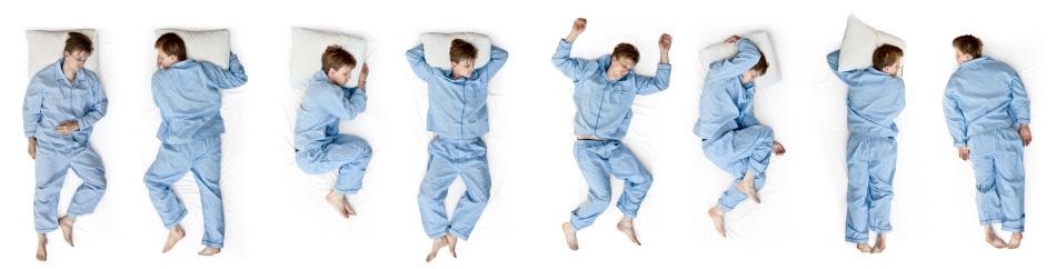 Slaap houdingen