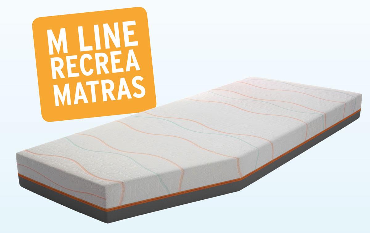 M Line Matras : M line recrea matras op maat diverse maten en vormen