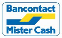 u kunt betalen met Bancontact Mistercash
